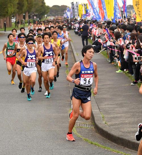 昨年の箱根駅伝予選会の様子(2018年10月13日)