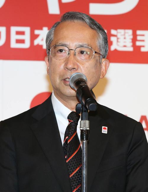 日本陸連の横川会長(2018年6月15日撮影)