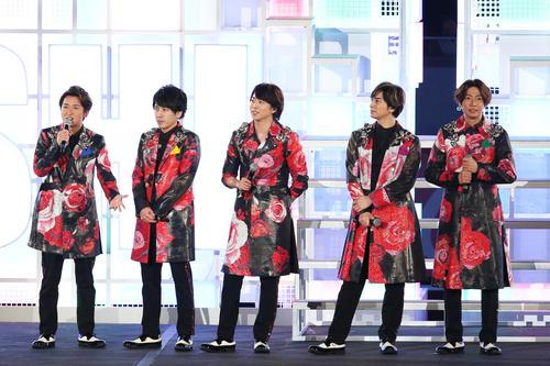 Arashi at the opening event of the National Stadium [Courtesy of JSC]