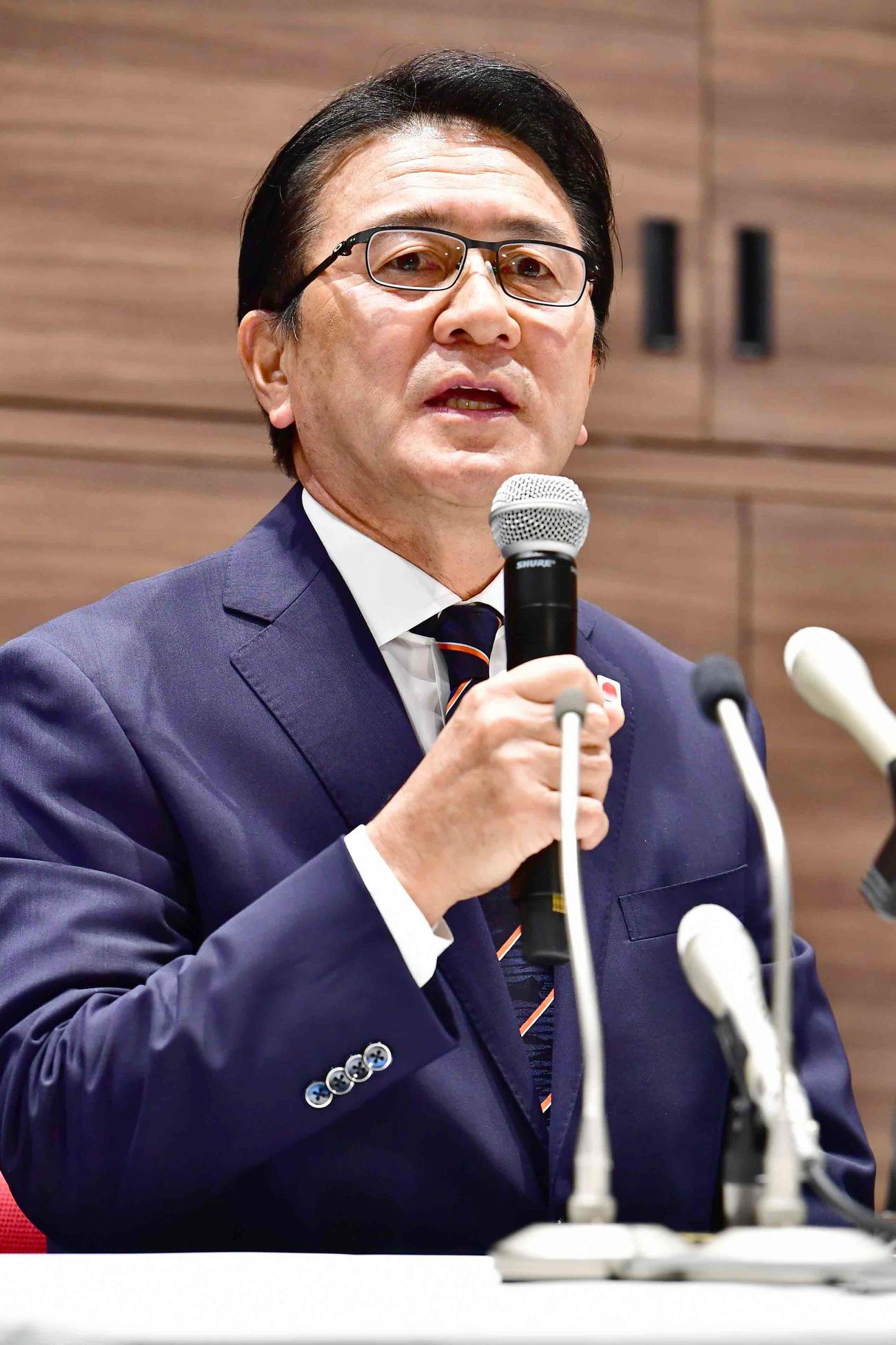 日本陸連の強化委員会マラソン強化戦略プロジェクトリーダー瀬古氏(2019年11月5日撮影)