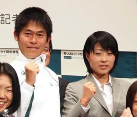 川内優輝と侑子夫人
