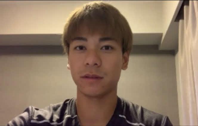 鹿児島県選手権に出場後、オンラインで取材に応じた白石