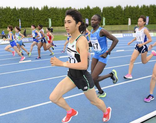 女子3000メートル スタートする田中希実(代表撮影)