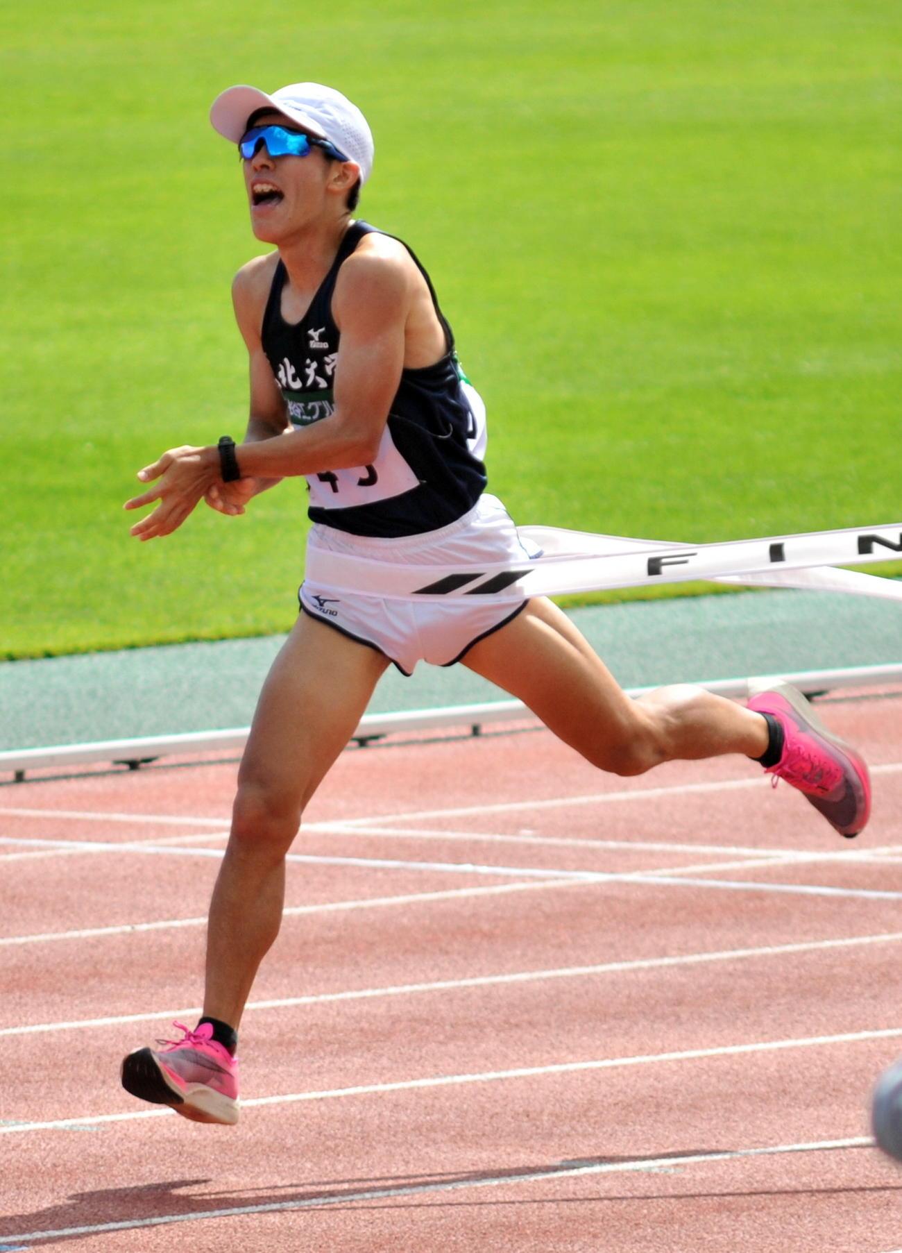 東北大の松浦は2年ぶり優勝で駅伝チームの全国切符獲得に貢献