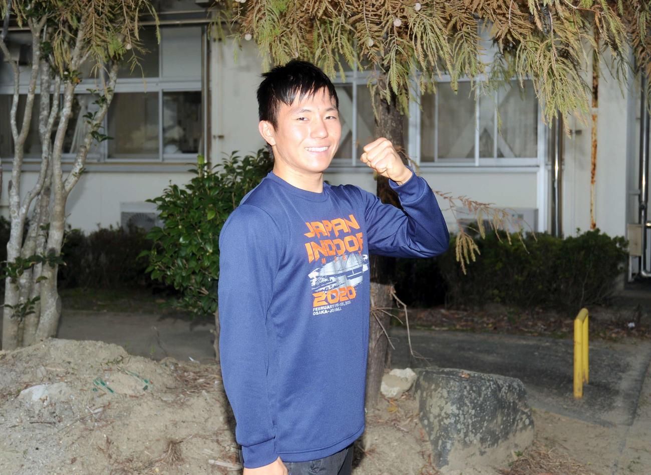 早大に合格し、笑顔の浜松湖東・島田