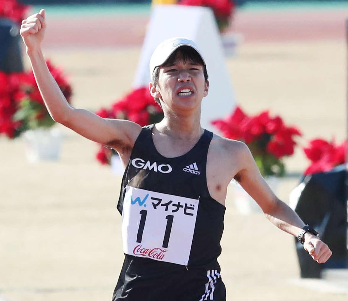 福岡国際マラソンで優勝した吉田祐也