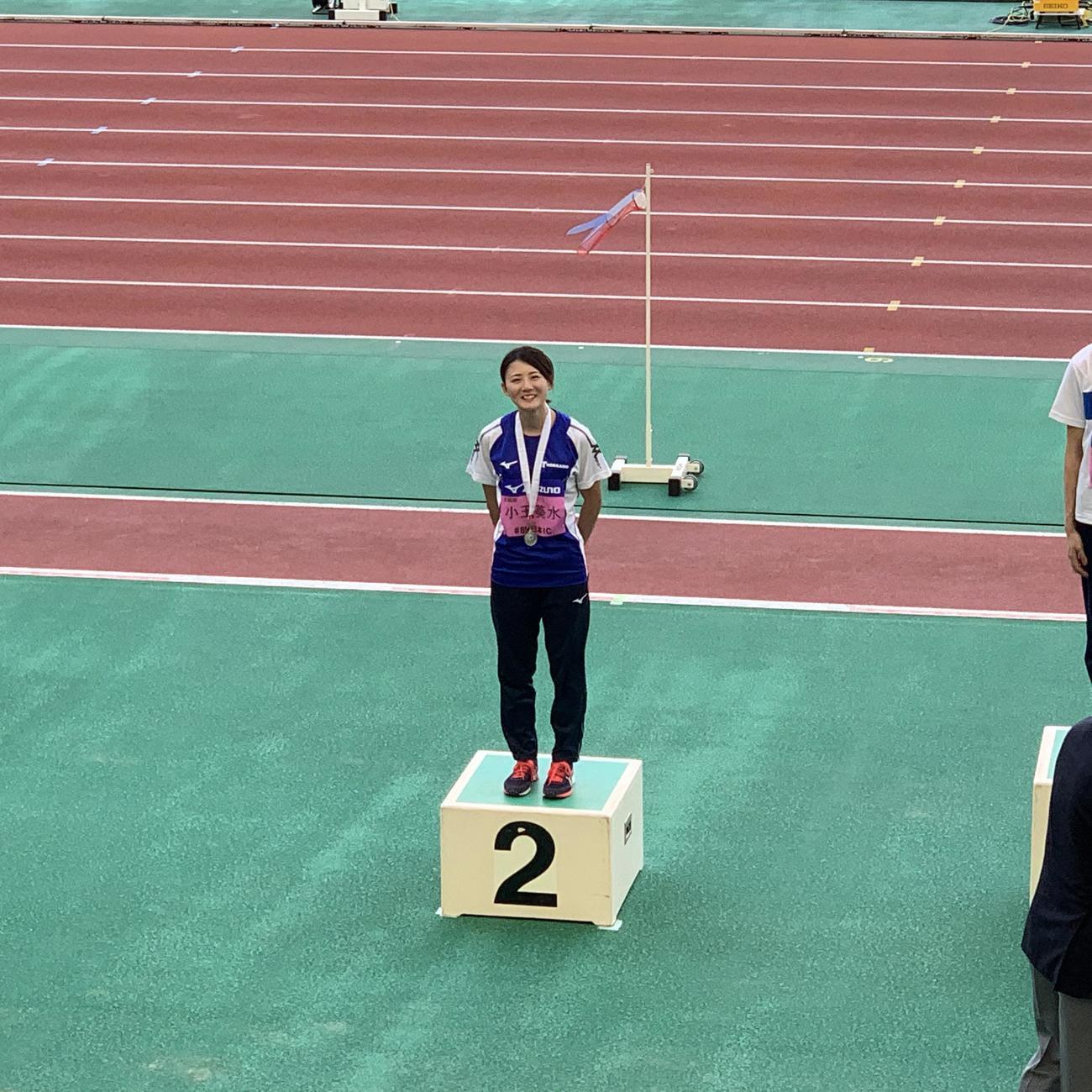 昨年9月の日本学生対校選手権で2位になった陸上女子走り幅跳びの東海大北海道・小玉(本人提供)