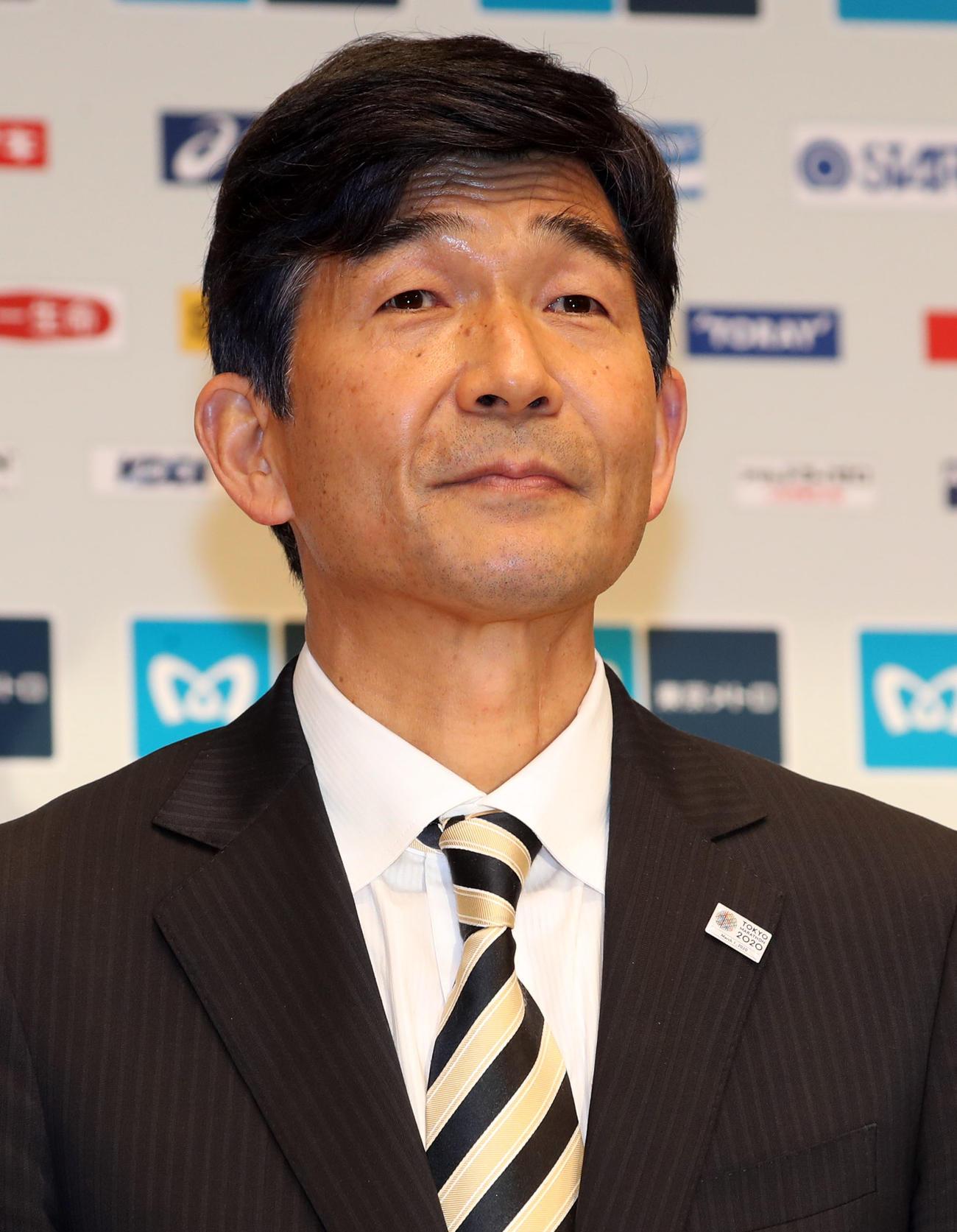 日本陸連の尾県貢新会長(2020年3月1日撮影)