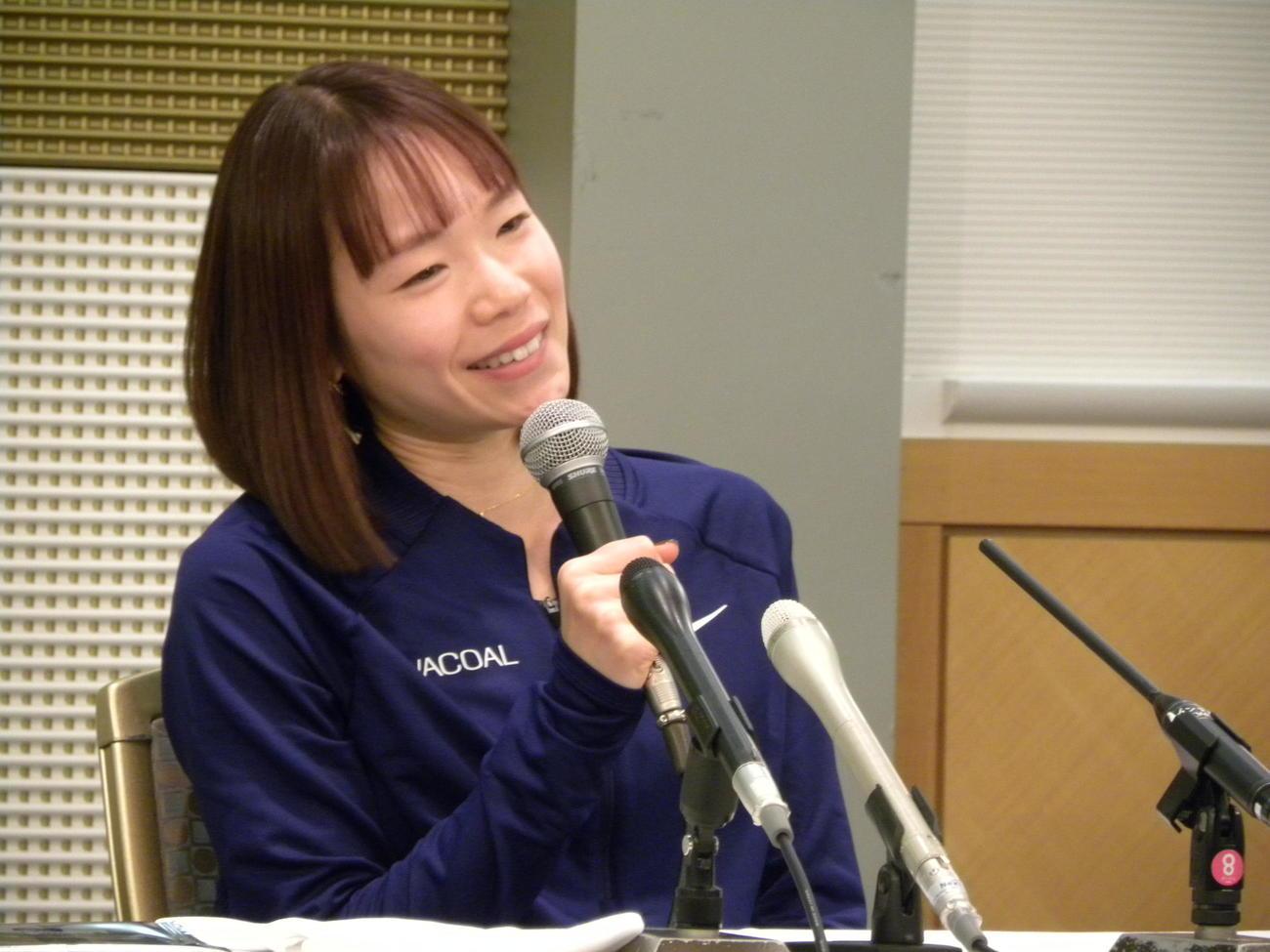 一山麻緒(2021年2月1日撮影)