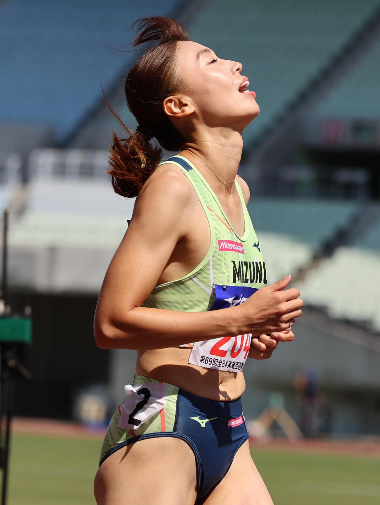 女子100メートル予選1組 12秒42の5位となる市川華菜(撮影・清水貴仁)