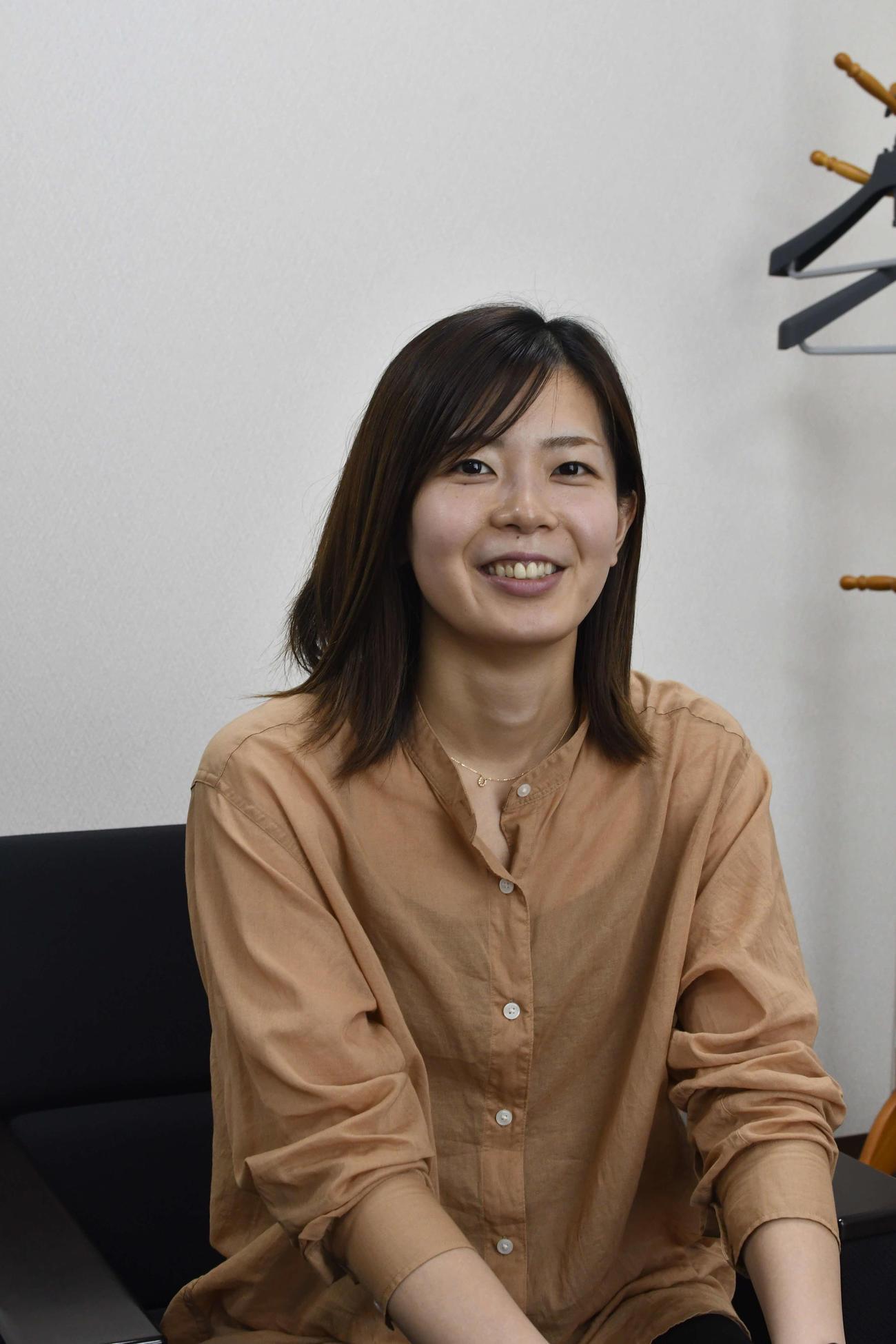 今年5月に引退した元バレーボール女子日本代表セッターの佐藤美弥さん(撮影・平山連)