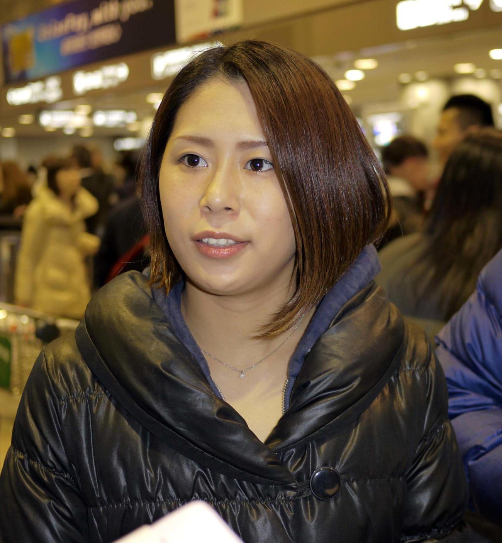 2012年2月28日、2大会連続の五輪出場を決め帰国した中川真依さん