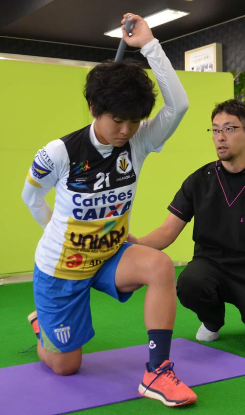 千葉県内でトレーニングに励む藤尾きらら(撮影・松尾幸之介)