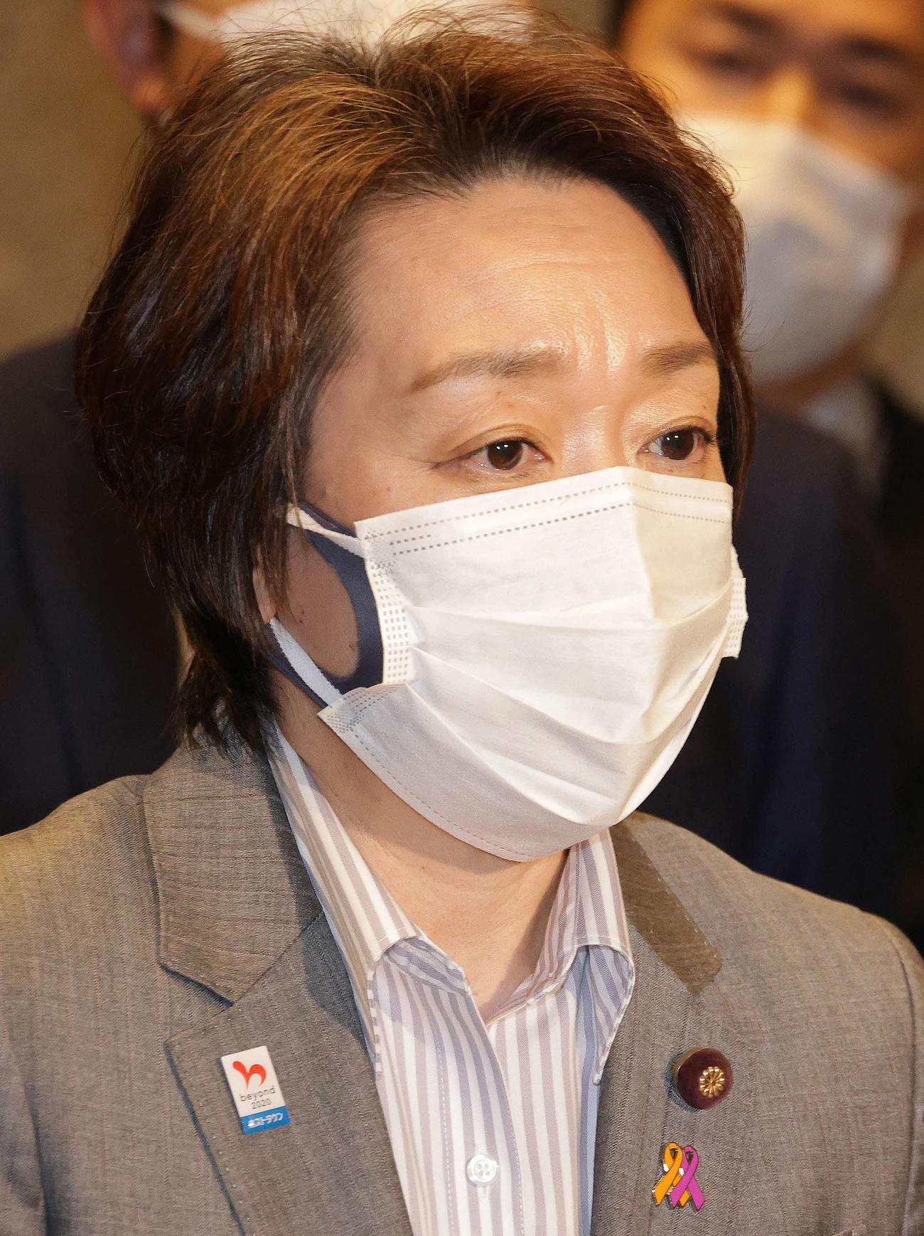 橋本聖子五輪相(2021年2月17日撮影)