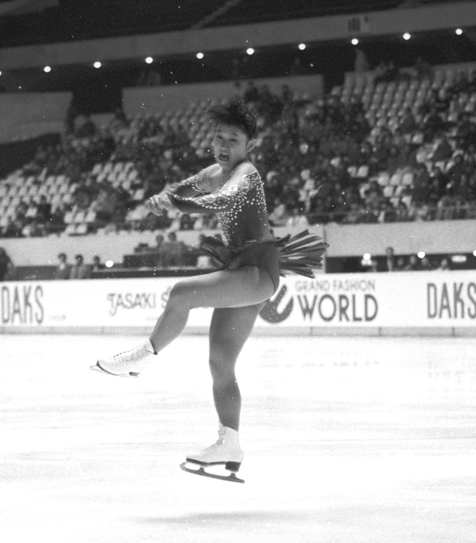 86年11月、NHK国際大会の女子SPで演技をする伊藤みどり