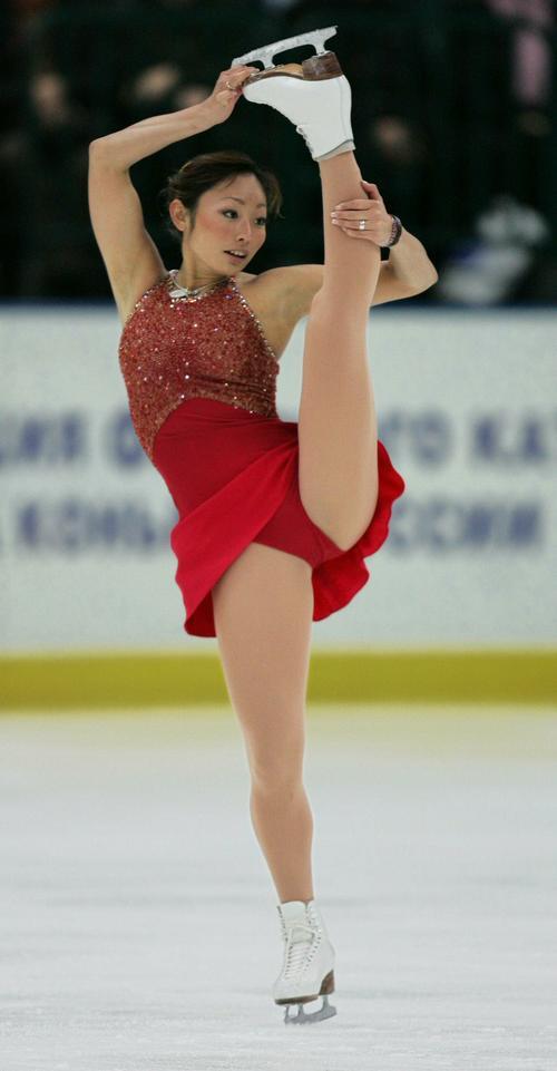 05年11月、GPシリーズ・ロシア杯の女子フリーで華麗に舞う安藤美姫