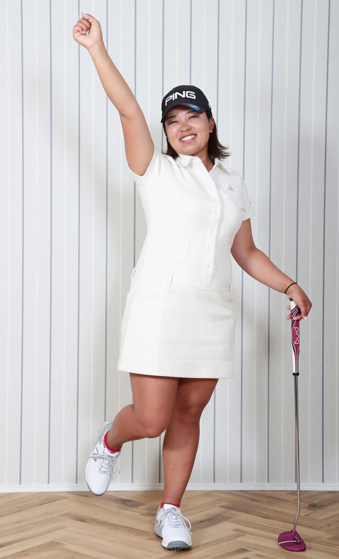 賞金女王・鈴木愛が意地とプライドを持って臨む、東京五輪出場をかけたシーズンが開幕する(撮影・丹羽敏通)