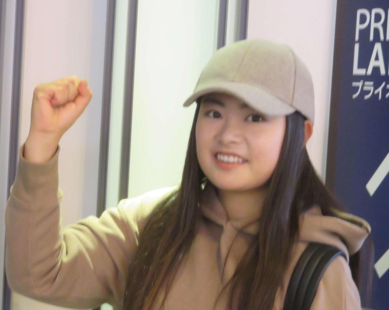 河本結(2020年1月12日撮影)