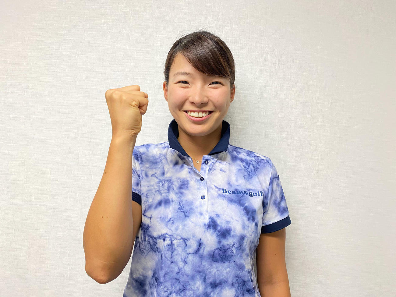 欧米遠征へ意気込む(日本女子プロゴルフ協会提供)