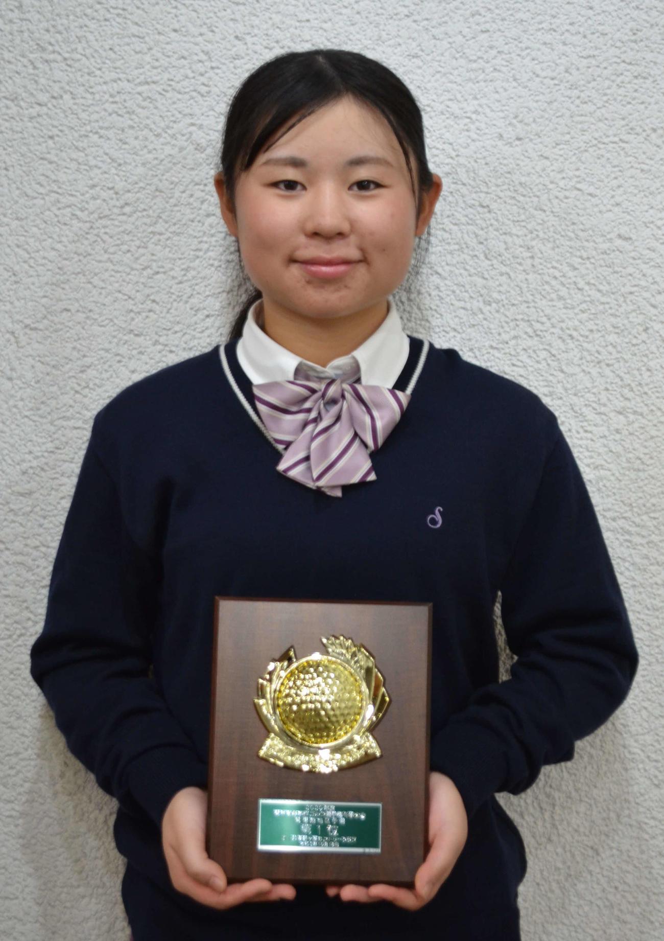 冬季大会関信越予選で個人女子優勝を果たした佐久長聖の市村(撮影・吉池彰)