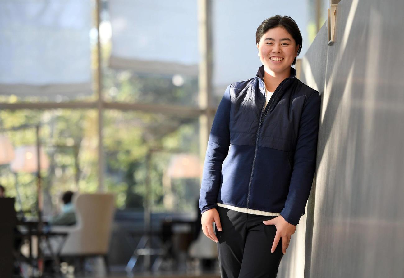 賞金ランキングトップの女子プロゴルファー笹生優花。20歳を迎える今年は「自分らしく」を大切にさらなる飛躍を誓う(撮影・たえ見朱実)