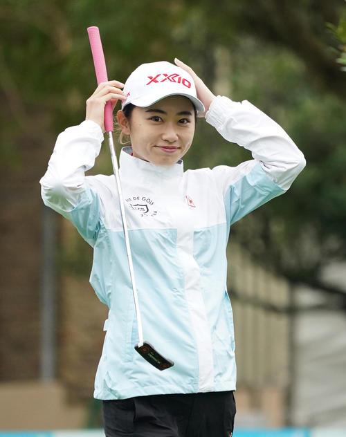第34回ダイキンオーキッドレディスゴルフトーナメント 練習ラウンドをまわる安田祐香(撮影・清水貴仁)
