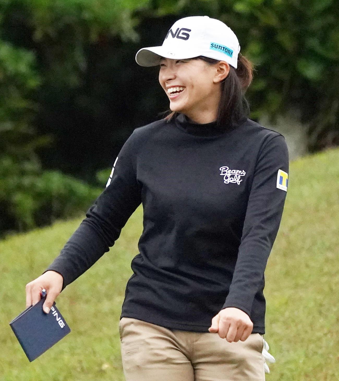 第34回ダイキンオーキッドレディースゴルフトーナメント 練習ラウンドを行う渋野日向子(撮影・清水貴仁)