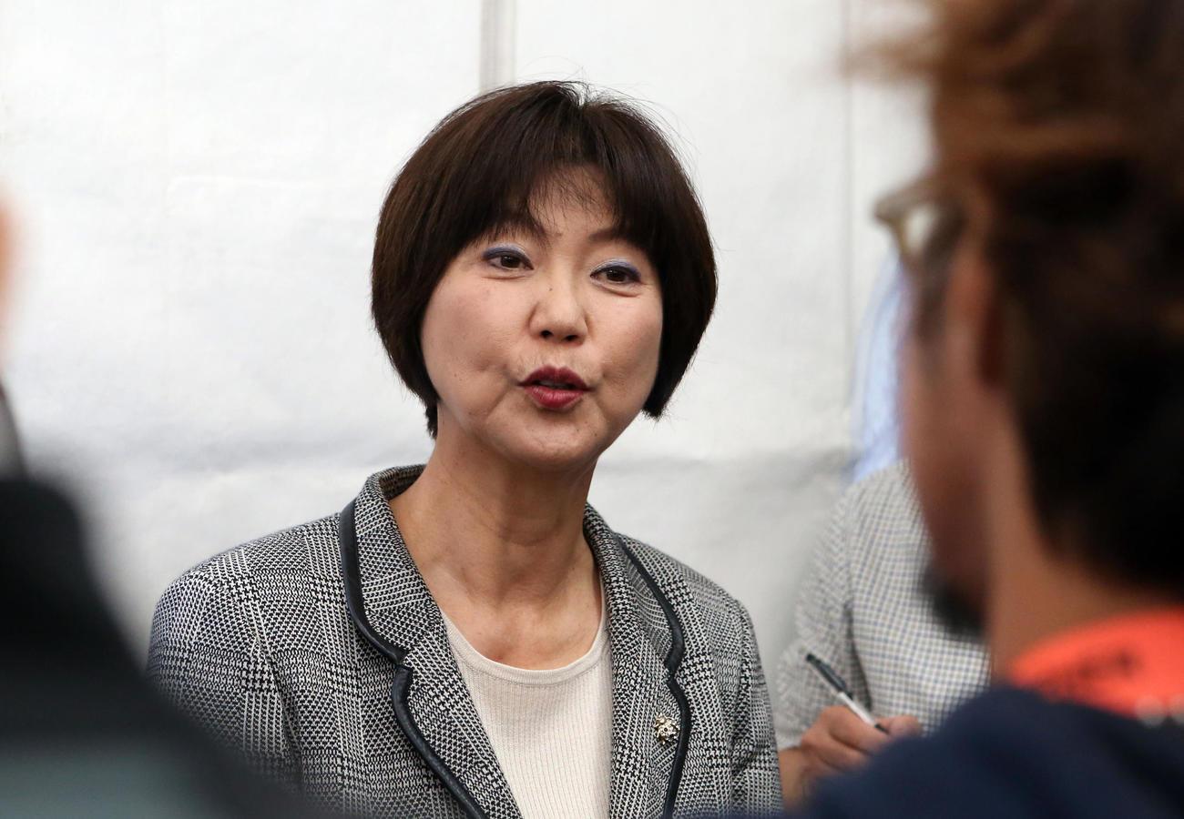 日本女子プロゴルフ協会(LPGA)の小林浩美会長(2019年11月14日撮影)