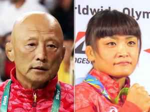 栄和人強化本部長(左)と伊調馨