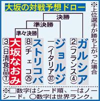 大坂なおみ、次戦相手は愛称「新幹線」の名付け親 - テニス : 日刊スポーツ