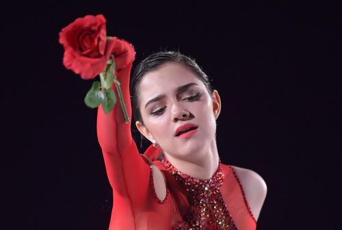 ファンタジー・オン・アイスで演技するエフゲニア・メドベージェワ(撮影・加藤諒)