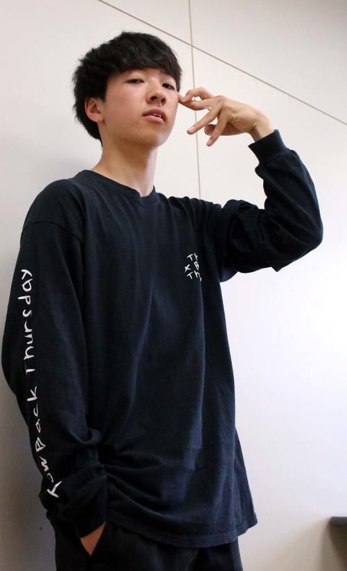 今夏、地元函館での「Red Bull BC One Japan Cypher」に出場する「Hokt」こと米沢(撮影・永野高輔)