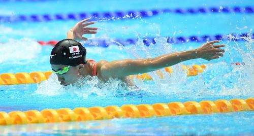 女子200メートル個人メドレー予選に出場した大橋(撮影・鈴木みどり)