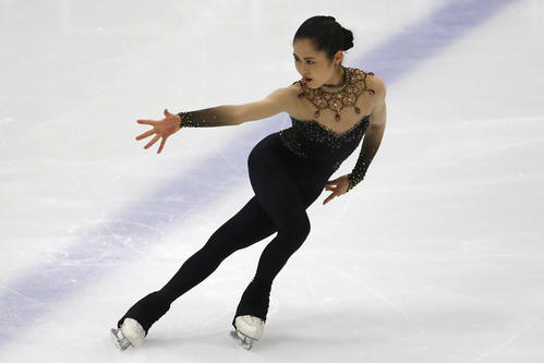 USインターナショナル2019 女子SP 演技する宮原(AP)