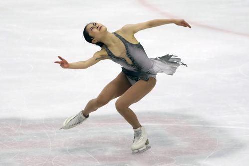 USインターナショナル2019 女子フリー 演技する宮原(AP)