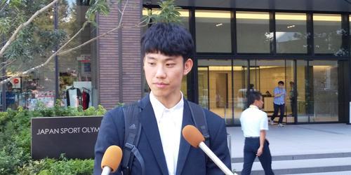 テコンドーで全日本8選手権連覇中の江畑は、同協会との協議会を途中退席した(撮影・益田一弘)
