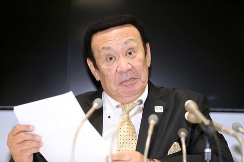 全日本テコンドー協会の金原会長(2019年10月8日撮影)