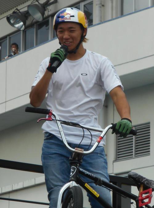 BMXフリースタイルの中村輪夢(19年9月28日撮影)