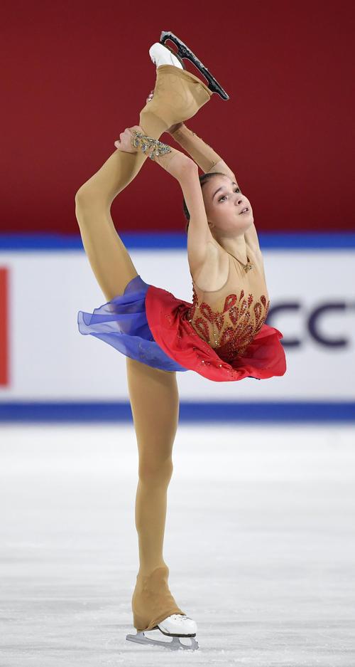優勝したアンナ・シェルバコワのフリー(共同)