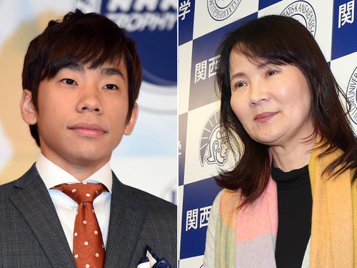 織田信成氏(左)と浜田美栄コーチ