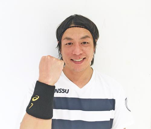 ハンドボール日本選手権で日体大の勝利に貢献しながら五輪代表へのアピールを続ける宮崎大輔(撮影・荻島弘一)
