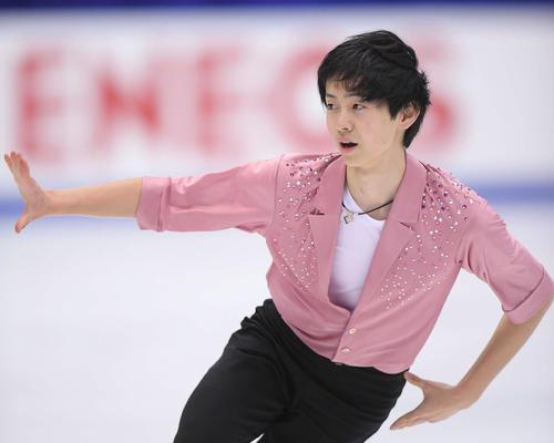 NHK杯 男子フリーで演技する島田(撮影・加藤諒)
