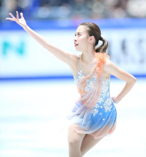 全日本フィギュアスケート選手権、女子SPで演技する松田(撮影・垰建太)