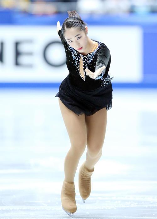 全日本フィギュアスケート選手権、女子SPで演技する竹野(撮影・垰建太)