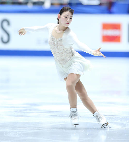 全日本フィギュアスケート選手権、女子SPで演技する大矢(撮影・垰建太)