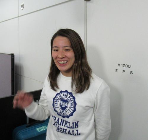 大橋悠依は、オーストラリア遠征から帰国した(撮影・益田一弘)