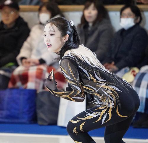 名古屋フィギュアスケートフェスティバル 華麗な演技で観客を魅了した本田真凜(撮影・森本幸一)