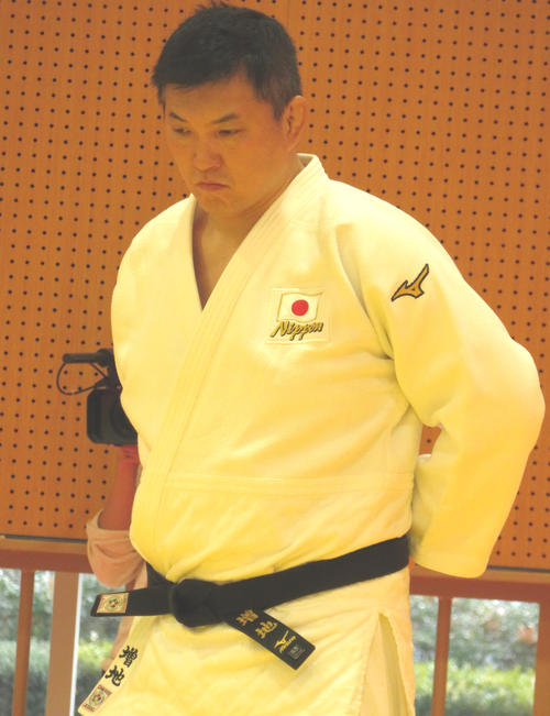 "Photo of Judo girls' director Masuchi, the theme of the Olympics year ""extreme"""