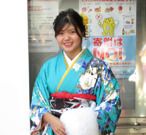 "Photo of Ryoka Hasegawa attends the coming-of-age ceremony ""I want to leave results at the Olympics"""