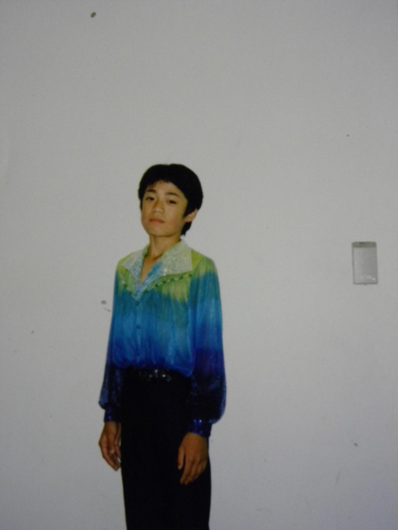 少年時代の高橋大輔(初瀬英子さん提供)
